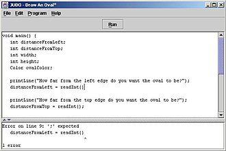 JUDO (computer programming environment) - A screenshot of the Integrated Development Environment enhanced by Java