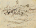 JulesPascin-1915-Landscape with Wagon.png