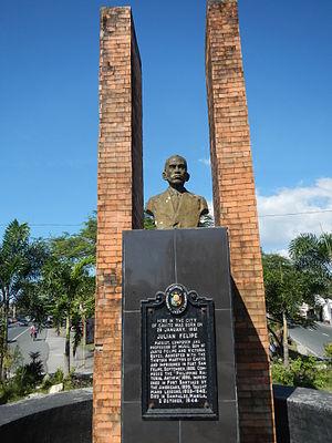 Julián Felipe - Monument at Cavite City