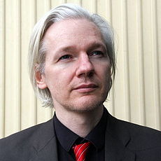 Wikipedia: Julian Paul Assange at Wikipedia: 230px-Julian_Assange_cropped_%28Norway%2C_March_2010%29