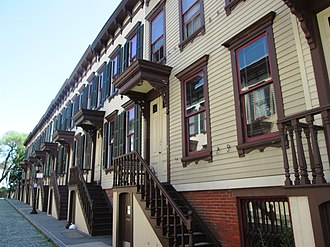 National Register of Historic Places listings in Manhattan - Image: Jumel Terrace Historic District 6 20 Sylvan Terrace from west