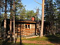 Jyrkkavaara wilderness hut autumn.JPG