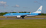 KLM Royal Dutch Airlines, Boeing 737-8K2(WL), PH-BXL (18409722690).jpg