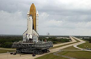 Mobile Launcher Platform 1 - Image: KSC 107 Rollout
