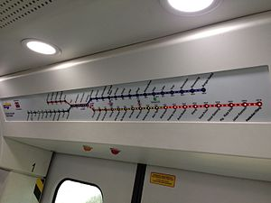 Port Klang Line - KTM Komuter dynamic route map display