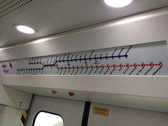 Port Klang Line - KTM Komuter dynamic route map display