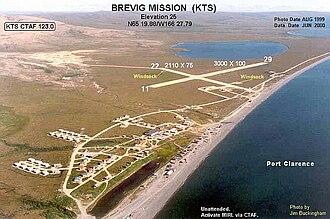 Brevig Mission Airport - Image: KTS b