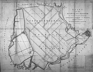 Zuidplaspolder - 1850 map of the Zuidplaspolder