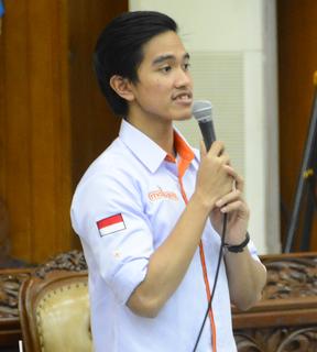 Kaesang Pangarep third child of the seventh Indonesian President Joko Widodo