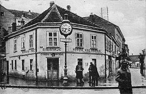 Kafana - Kafana at palace Albania, Belgrade, 1910s.