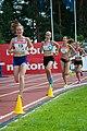 Kalevan Kisat 2018 - Women's 5000 m - Katri Niemistö, Alisa Vainio, Kristiina Mäki, Janica Rauma.jpg
