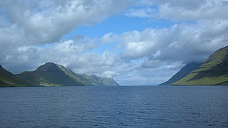 Kalsoy - The Kalsoyarfjørður with Kalsoy (left) and Kunoy (right)