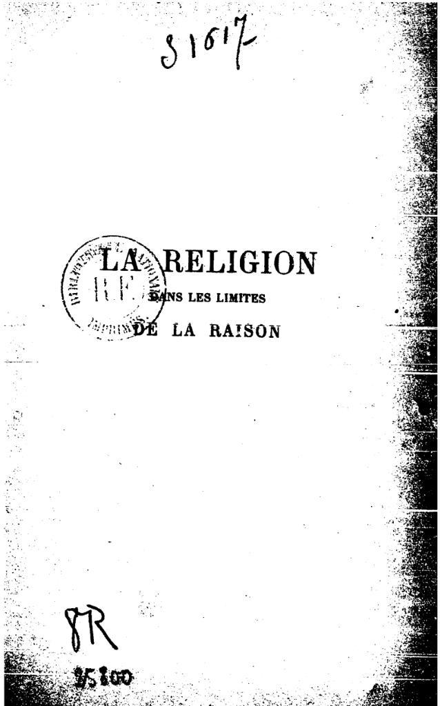 kant religion:
