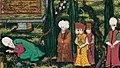 Kanunî Sultan Süleyman'ın isyan eden oğlu Şehzade Bayezid'e beddua etmesi (cropped).jpg
