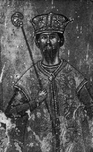 Karl Topia - Image: Karl Topia, by Kostandin Shpataraku, Ardenica Monastery