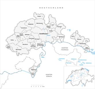 Canton of Schaffhausen - Municipalities in the Canton