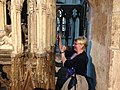 Kathryn Warner at the tomb of Edward II in Gloucester.jpg