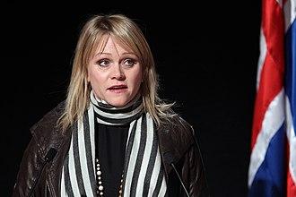 Katrín Júlíusdóttir - Image: Katrin Juliusdottir, naringsminister Island. Nordiska radets session i Reykjavik 2010