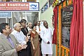 Kavuru Sambasiva Rao unveiling the plaque to inaugurate the AEPC-ATDC Smart Bhawan, in Faridabad. The Secretary, Ministry of Textiles, Ms. Zohra Chatterjee and the Chairman, AEPC, Dr. A. Sakthivel are also seen.jpg