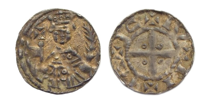 Keizer Frederik I Barbarossa penning 1152-1190 geslagen Nijmegen