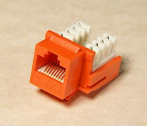Keystone module - A keystone module for a CAT5 network cable