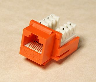 Keystone module - A keystone module for a CAT5 network cable