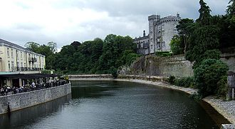 Kilkenny Castle - The castle seen from the nearby River Nore.