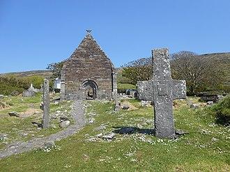 Kilmalkedar - Image: Kilmalkedar Cross, Ogham and Church