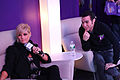 Kimberly Caldwell, Pete Wentz at Yahoo Yodel 6.jpg