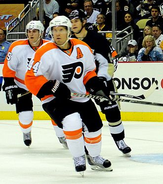 Kimmo Timonen - Timonen with the Flyers in 2010.