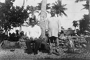 Numangatini Tione Ariki - Image: King John of Mangaia, 10 October 1900