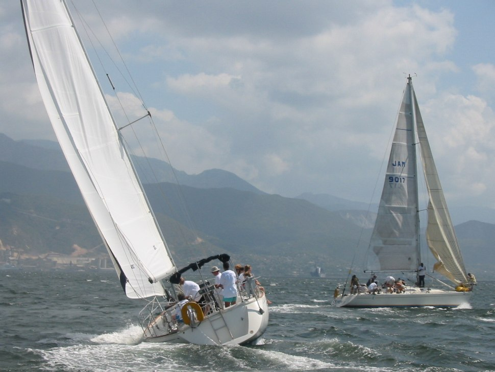 Yachts racing in the harbour in 2005