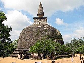 Ancient stupas of Sri Lanka - Kiri Vihara stupa, Polonnaruwa has the 'Bubble shape'