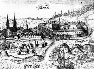 Klaipėda - Historical illustration of Memel (1684)