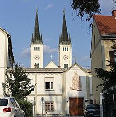 Figurenbildstöcke und Pavillon, Mariengasse 12a, Graz