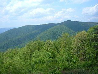 Mountain in the Appalachian range
