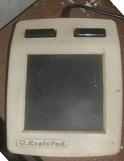 KoalaPad 1980s computer graphics tablet