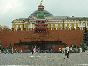 Soviet socialist patriotism - Lenin's Mausoleum in Moscow.