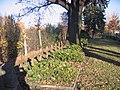 Kreuze auf der Gedenkstätte für die Opfer des Zweiten Weltkrieges auf dem Saspower Friedhof.jpg
