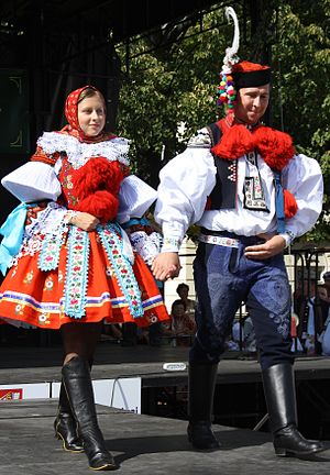 Demographics of the Czech Republic - Czech national costumes from Eastern Moravia (Slovácko Region)