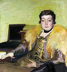 Portret Michaliny Krzyżanowskiej, żony artysty