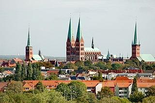 Lübeck City in Schleswig-Holstein, Germany