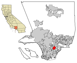 LA County Incorporated Areas Downey highlighted.svg