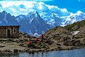 Lac Blanc hike - Aiguille du Midi & Mt Blanc massif fromLac Blanc (10975679144).jpg