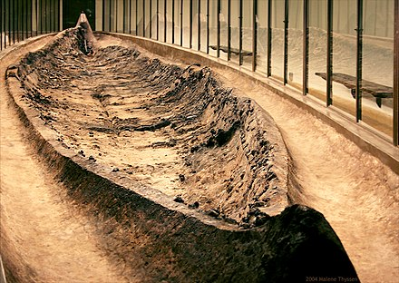 The Ladby ship, the largest ship burial found in Denmark Ladbyskibet.jpg