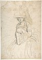 Lady Holding a Book (recto); Plan of Placing Colors on a Palette (verso) MET DP804913.jpg
