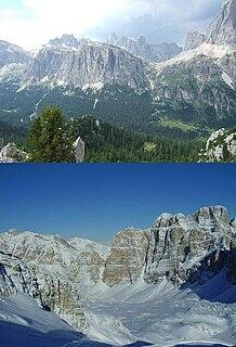 Lagazuoi mountain in the Dolomites