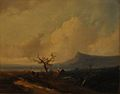 Landscape near the Rhine (with a Shepherd and Sheep) by Johannes Franciscus Hoppenbrouwers.jpg