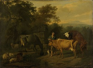 Landscape with herdsmen and cattle