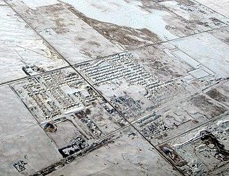 Langdon, Alberta - Aerial view of Langdon in winter